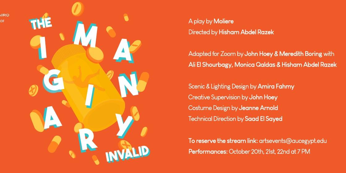 The Theatre Program Presents: The Imaginary Invalid Event Logo