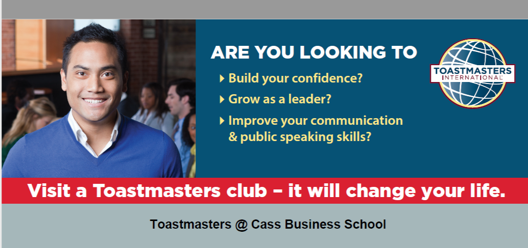 Toastmasters @ Cass – A New Year Resolution to keep
