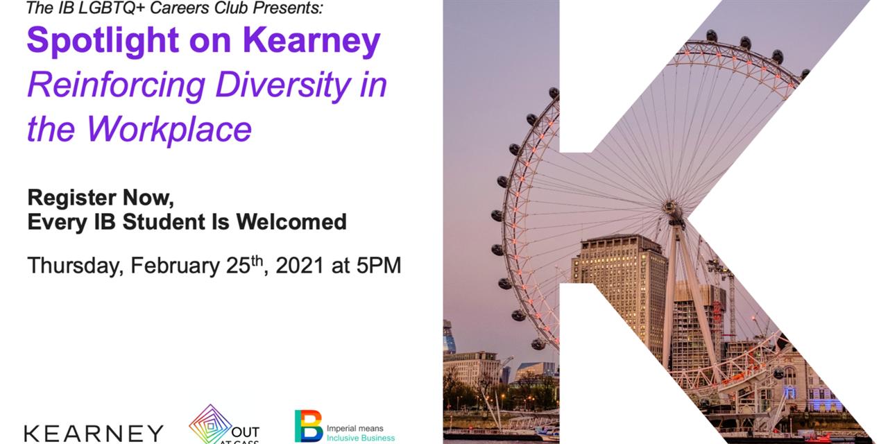 Spotlight on Kearney - Reinforcing Diversity in the Workplace Event Logo