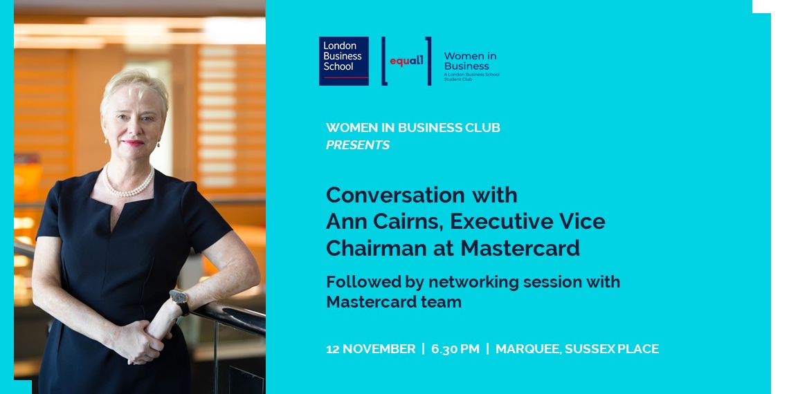 Conversation with Ann Cairns, Executive Vice Chairman at Mastercard