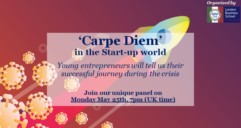 Virtual Panel Event | 'Carpe Diem' in the Start-up world: Informal chat with young entrepreneurs