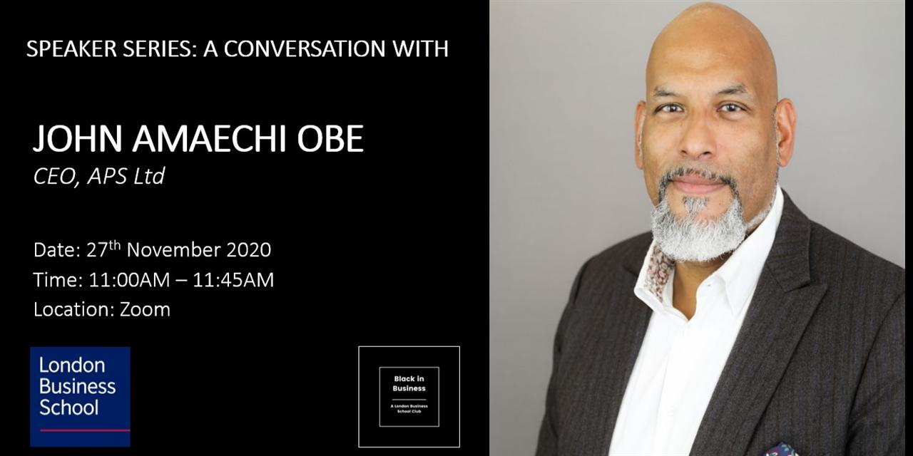 Speaker Series - A conversation with John Amaechi OBE Event Logo