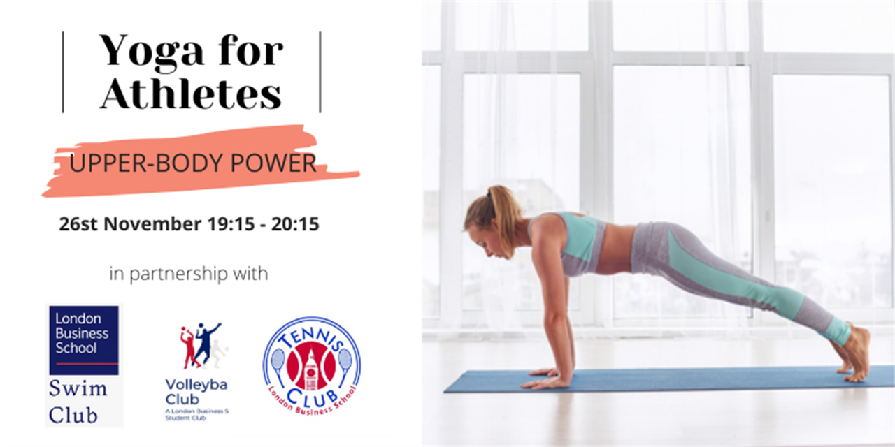 Upper-body Power Yoga (part of Yoga for Athletes Series) Event Logo