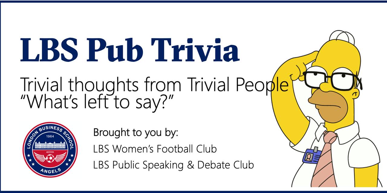 LBS Pub Trivia