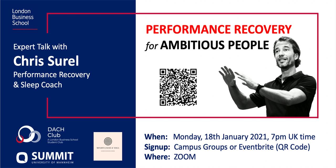Performance Recovery for Ambitious People - Expert Talk with Chris Surel Event Logo