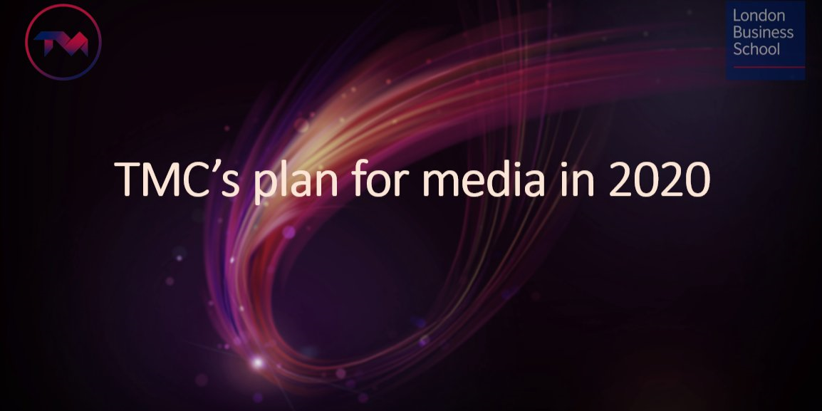TMC's plan for media in 2020 Event Logo