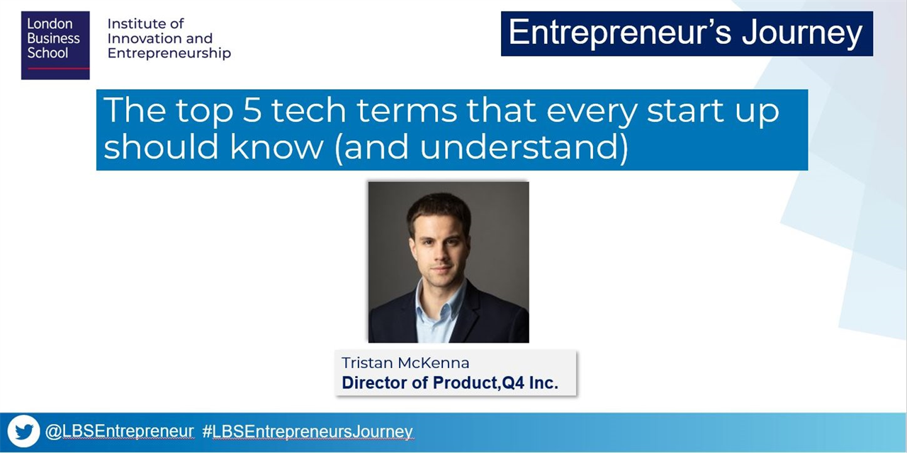 Entrepreneur's Journey: The top 5 tech terms that every start up should know (and understand) Event Logo