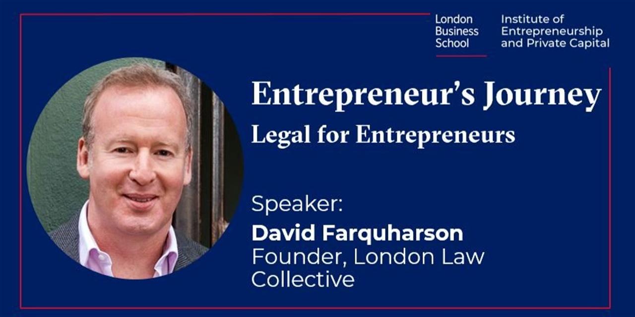 Entrepreneur's Journey series: Legal for entrepreneurs Event Logo