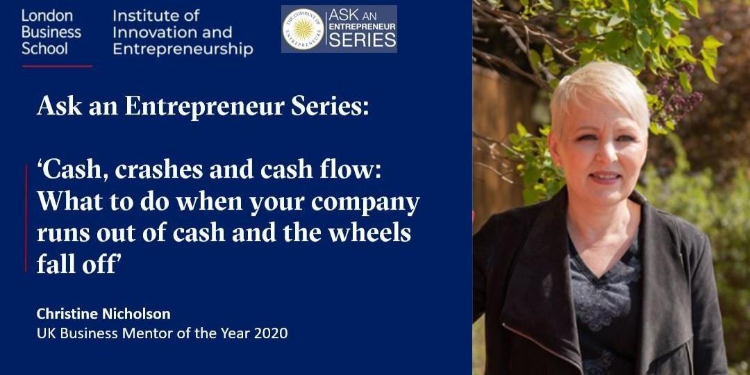 Ask an Entrepreneur Series: Cash, crashes and cash flow Event Logo