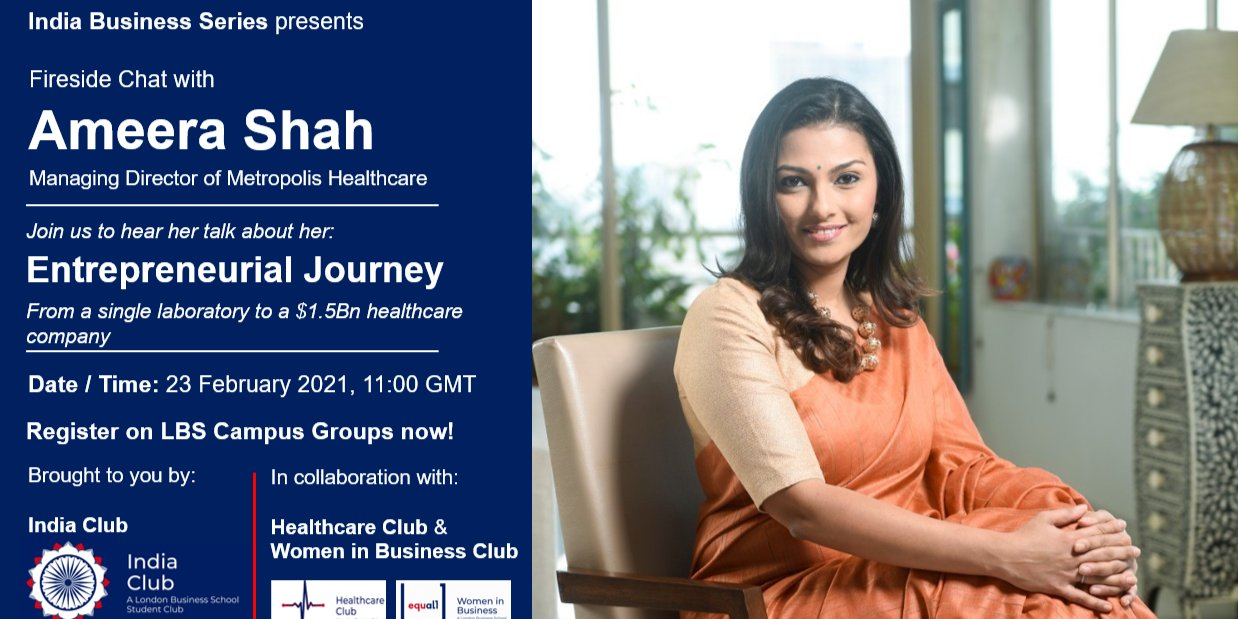 Fireside Chat with Ameera Shah Event Logo