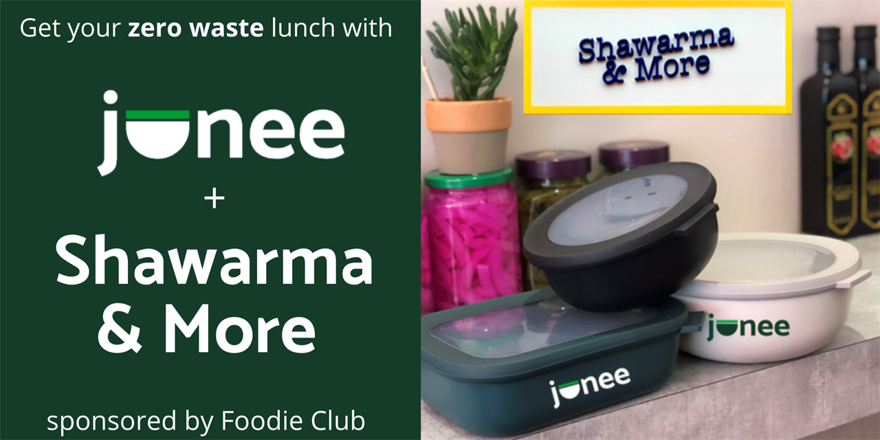 Foodie Club x junee: Zero waste subsidised lunch w/LBS startup Event Logo