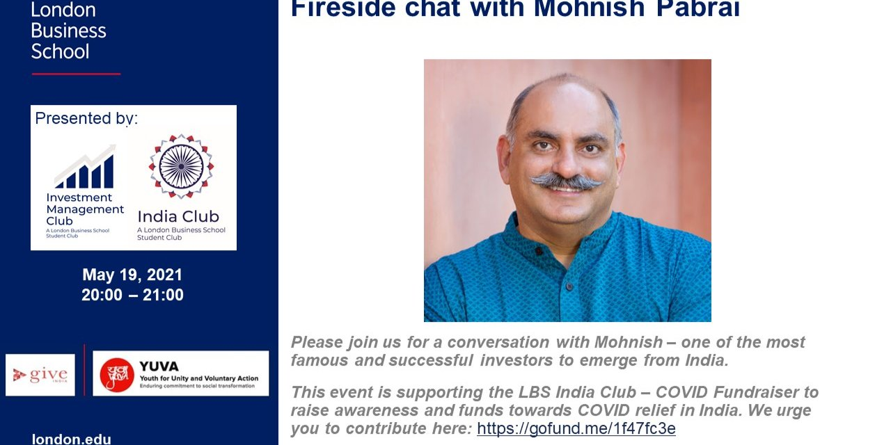 IMC x India Club: Fireside chat with Mohnish Pabrai Event Logo