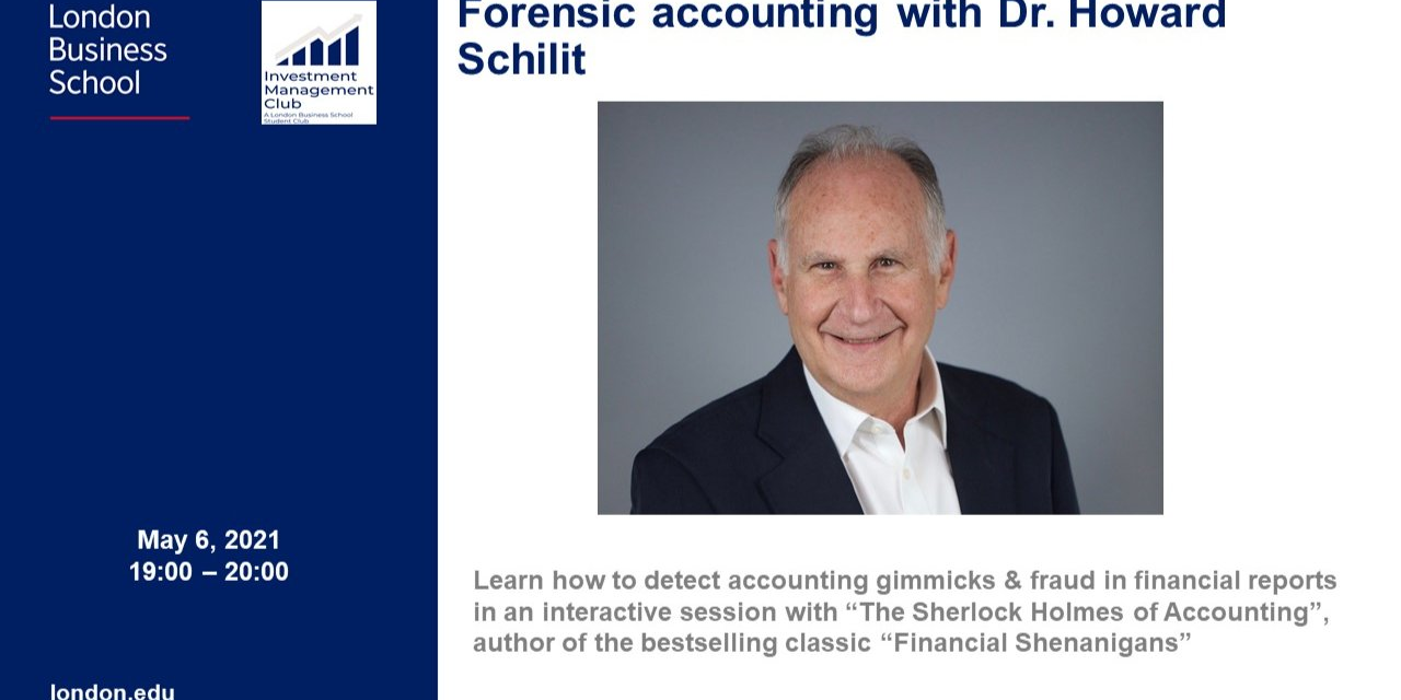 Forensic accounting with Dr. Howard Schilit Event Logo