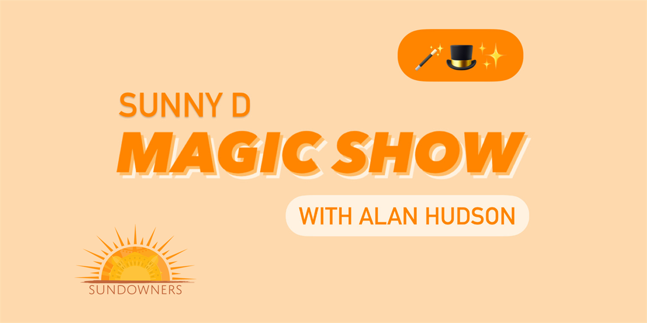 Sundowners presents: Magic, Mindreading and Lols! (with free drinks!) Event Logo