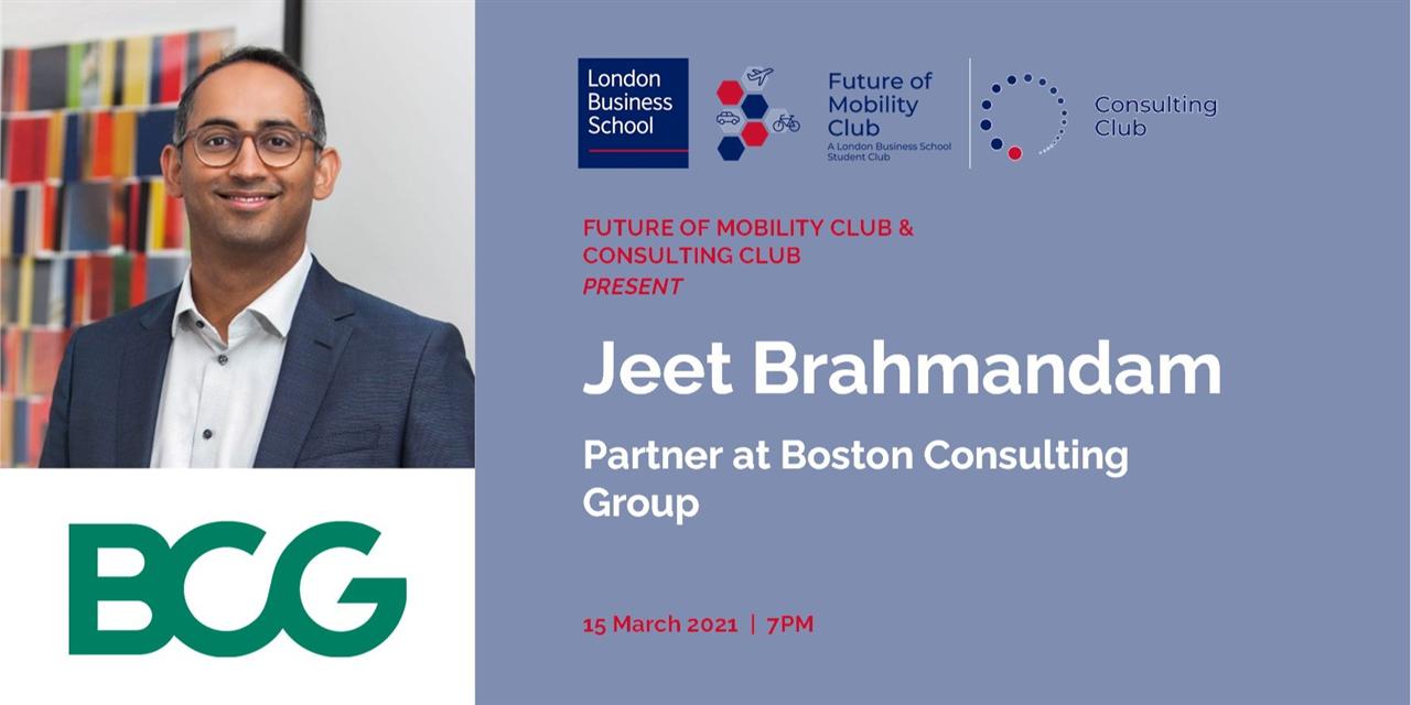 NEW DATE! Speaker Event with Jeet Brahmandam, Partner at BCG! Event Logo