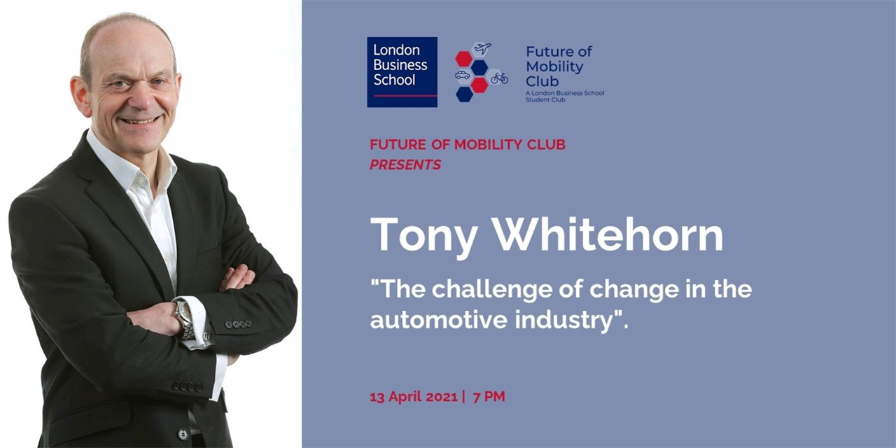 """The challenge of change in the automotive industry"" with Tony Whitehorn, former CEO of Hyundai UK Event Logo"