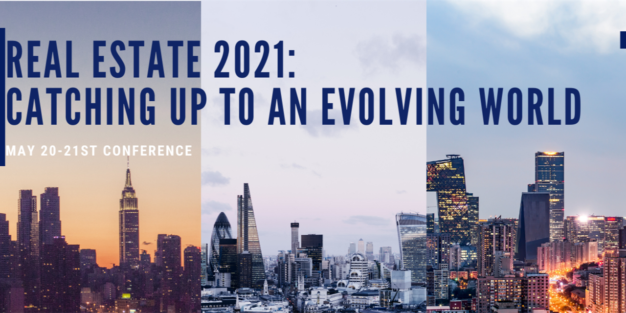 """LBS Real Estate Conference """"Real Estate 2021: Catching up to an Evolving World"""" Event Logo"""