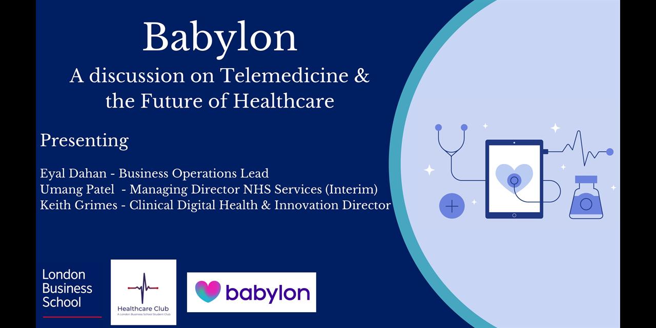 Babylon: A discussion on Telemedicine & the Future of Healthcare Event Logo
