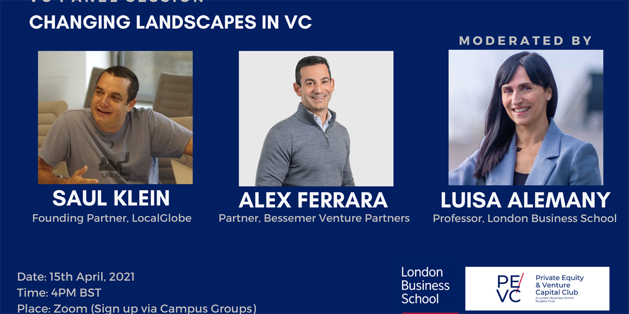 Changing Landscapes in VC with LocalGlobe & Bessemer Venture Partners Event Logo