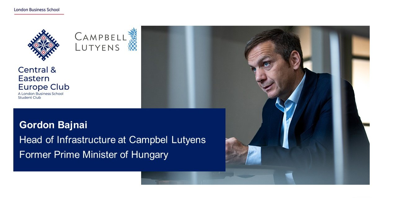 CEE Speaker Series: Chat with Gordon Bajnai, Head of Infrastructure at Campbell Lutyens, former Prime Minister of Hungary Event Logo