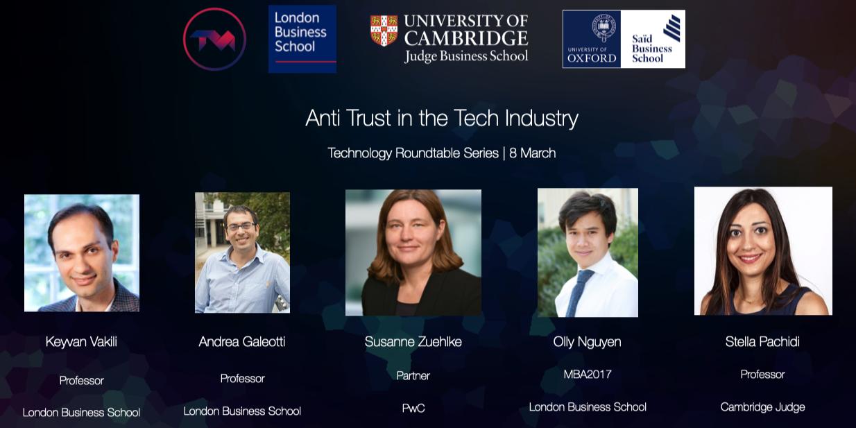 Loxbridge TMC Roundtable: Anti-trust in the Tech Industry Event Logo
