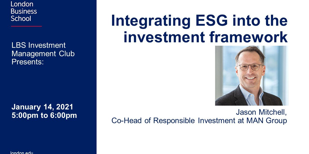 Integrating ESG into the Investment Framework Event Logo
