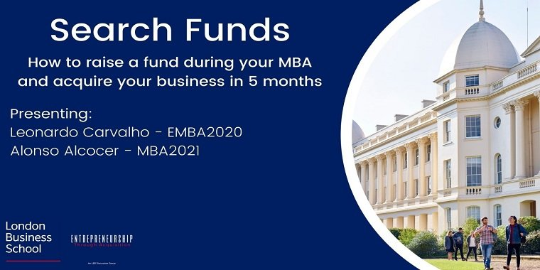 ETA - Raising a Search Fund during MBA and Acquiring your Business in 5 months Event Logo