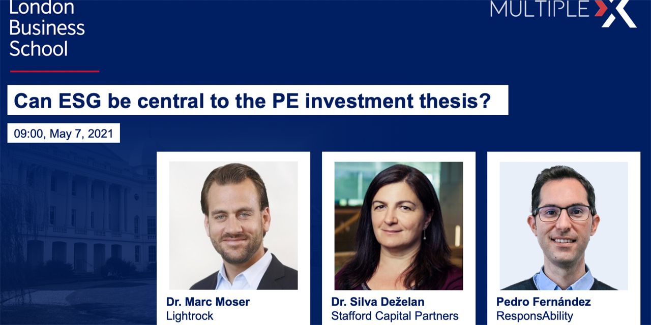 Multiple:X Can ESG be central to the PE investment thesis? Event Logo