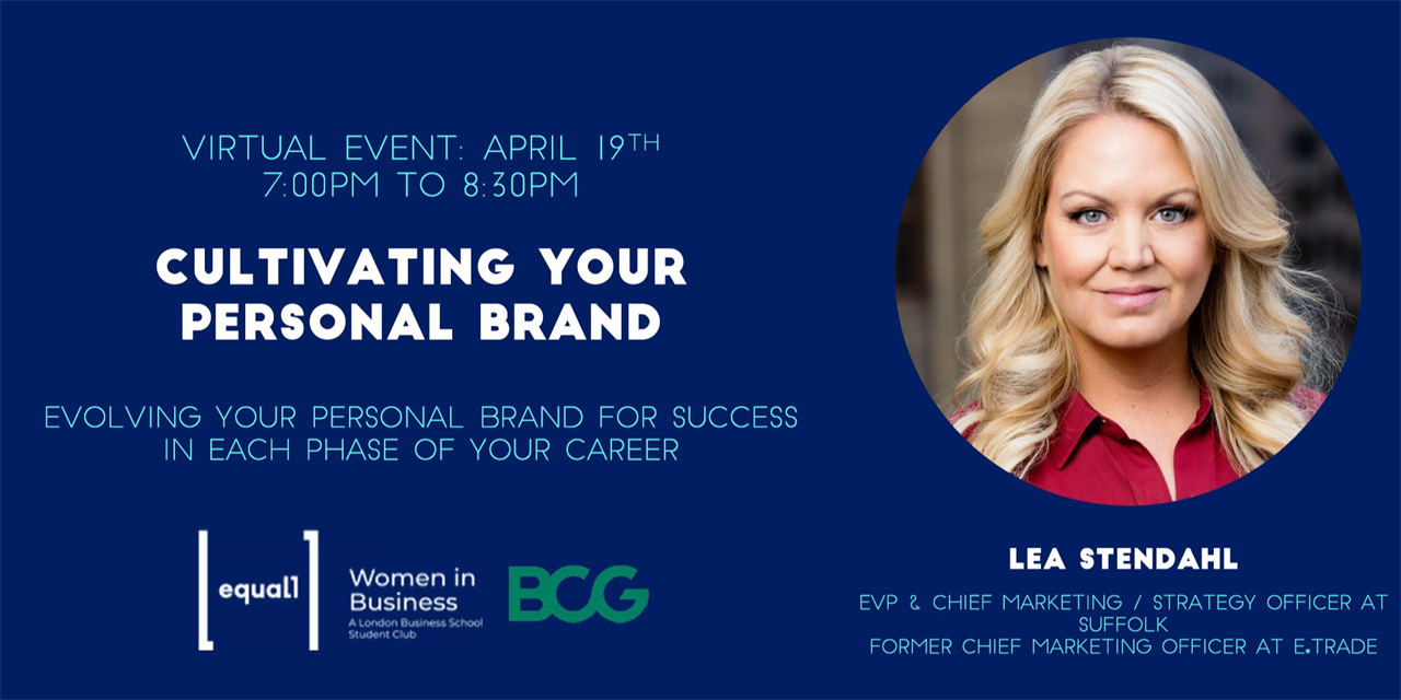 Cultivating Your Personal Brand - WiB Personal Development Masterclass Event Logo