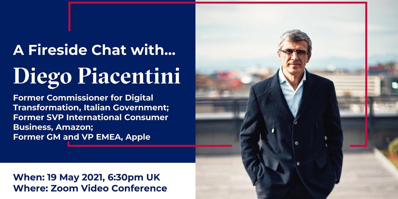 Italian Club Speaker Event | Fireside Chat with Diego Piacentini (Investor & advisor) Event Logo