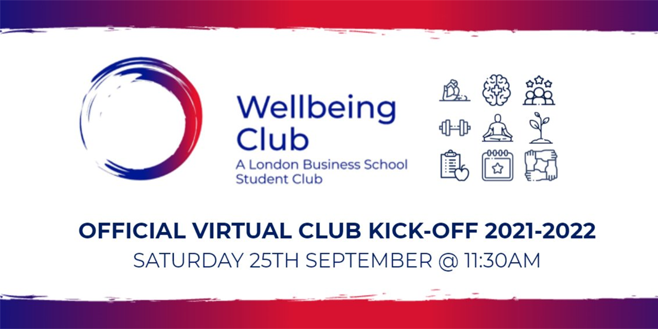 LBS Wellbeing Club Official (Virtual) Kickoff 2021-2022 Event Logo