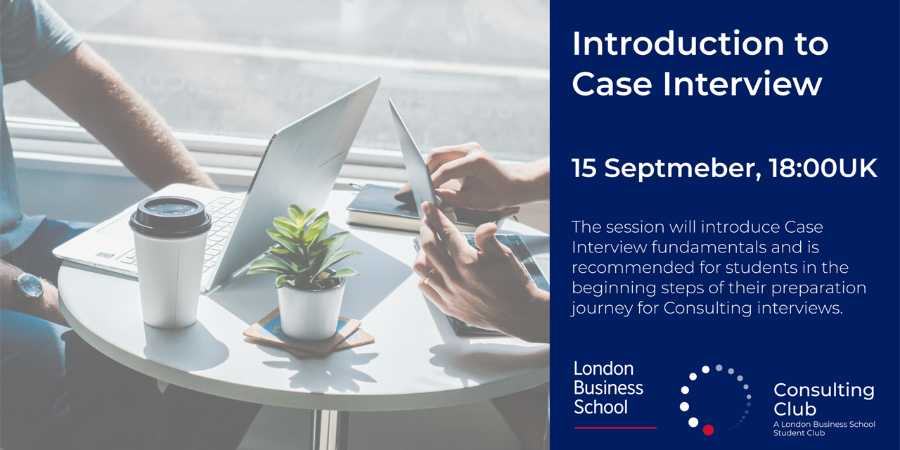 Introduction to Consulting Case Interview Event Logo