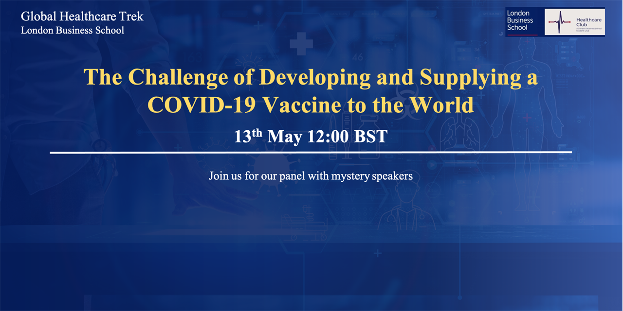 Healthcare Global Trek: The Challenge of Developing and Supplying a COVID-19 Vaccine to the World Event Logo