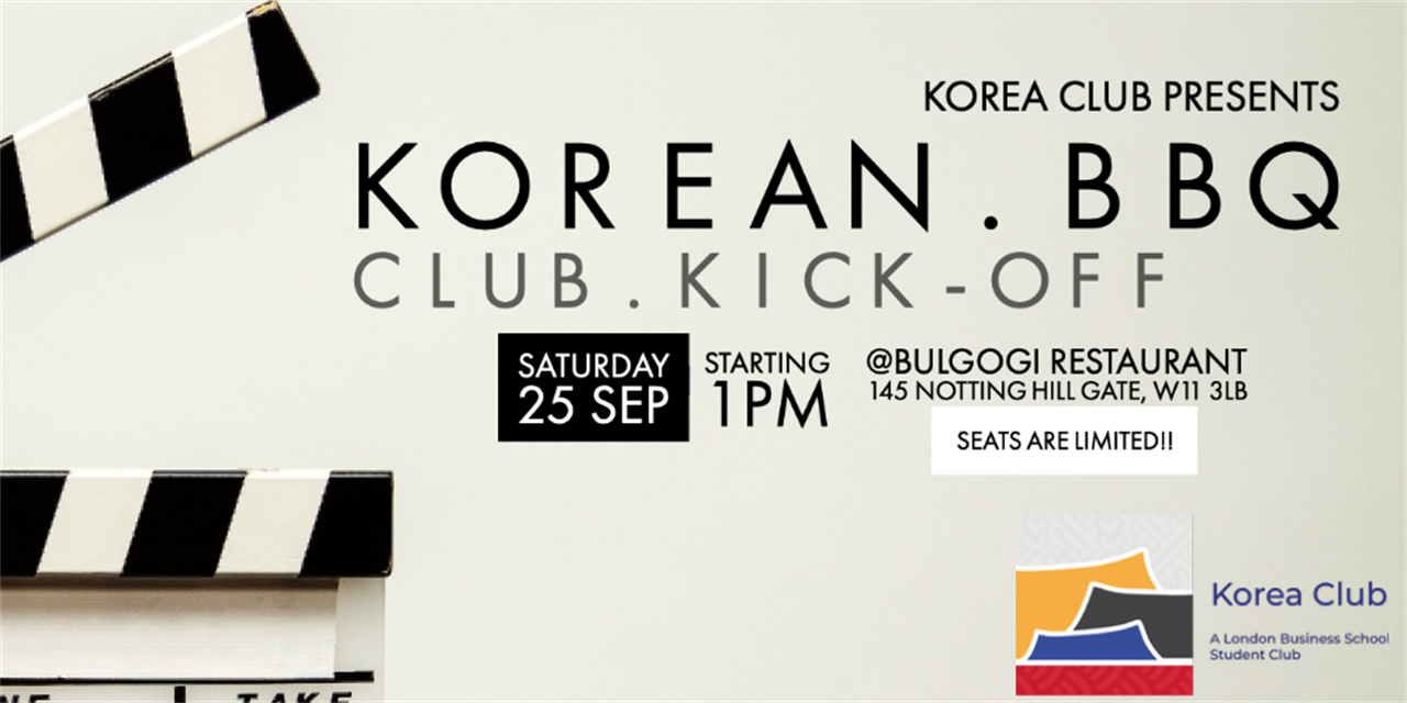 Korea Club Kick-off BBQ Event Logo