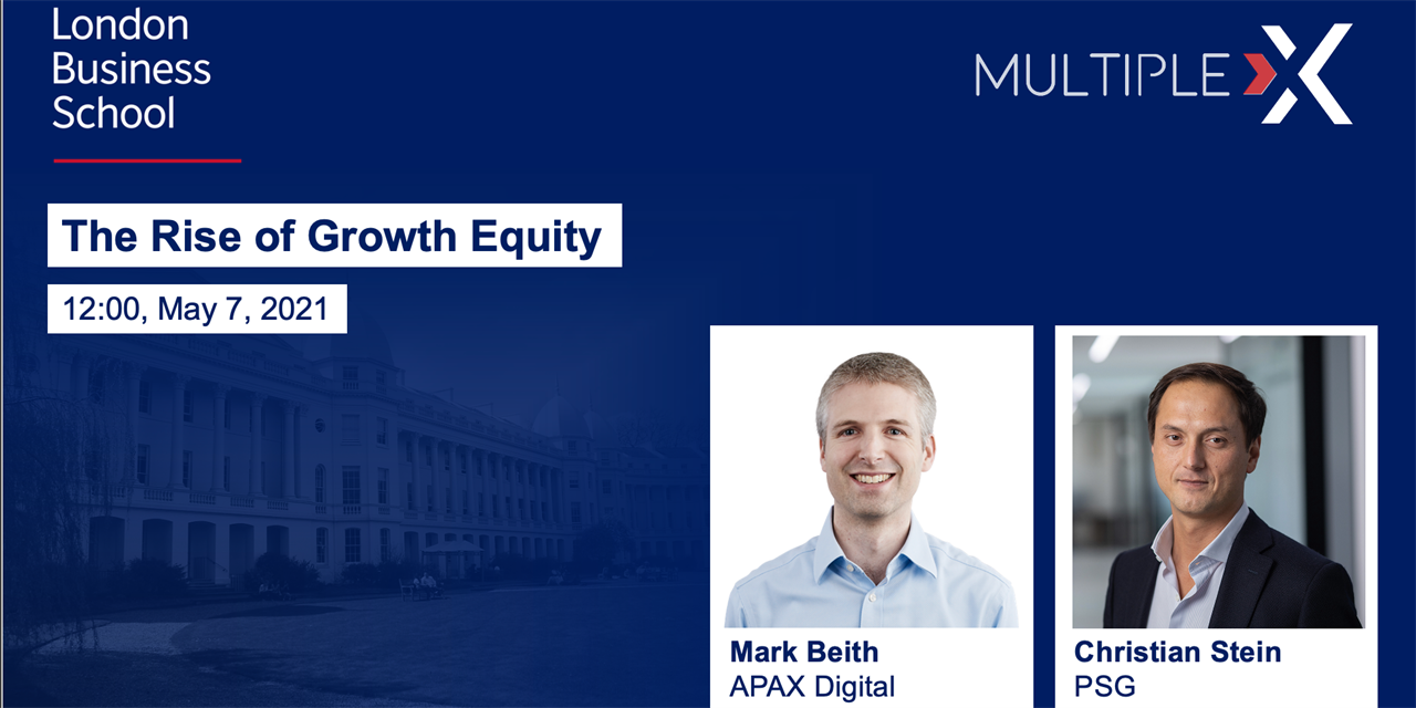 Multiple:X The Rise of Growth Equity Event Logo