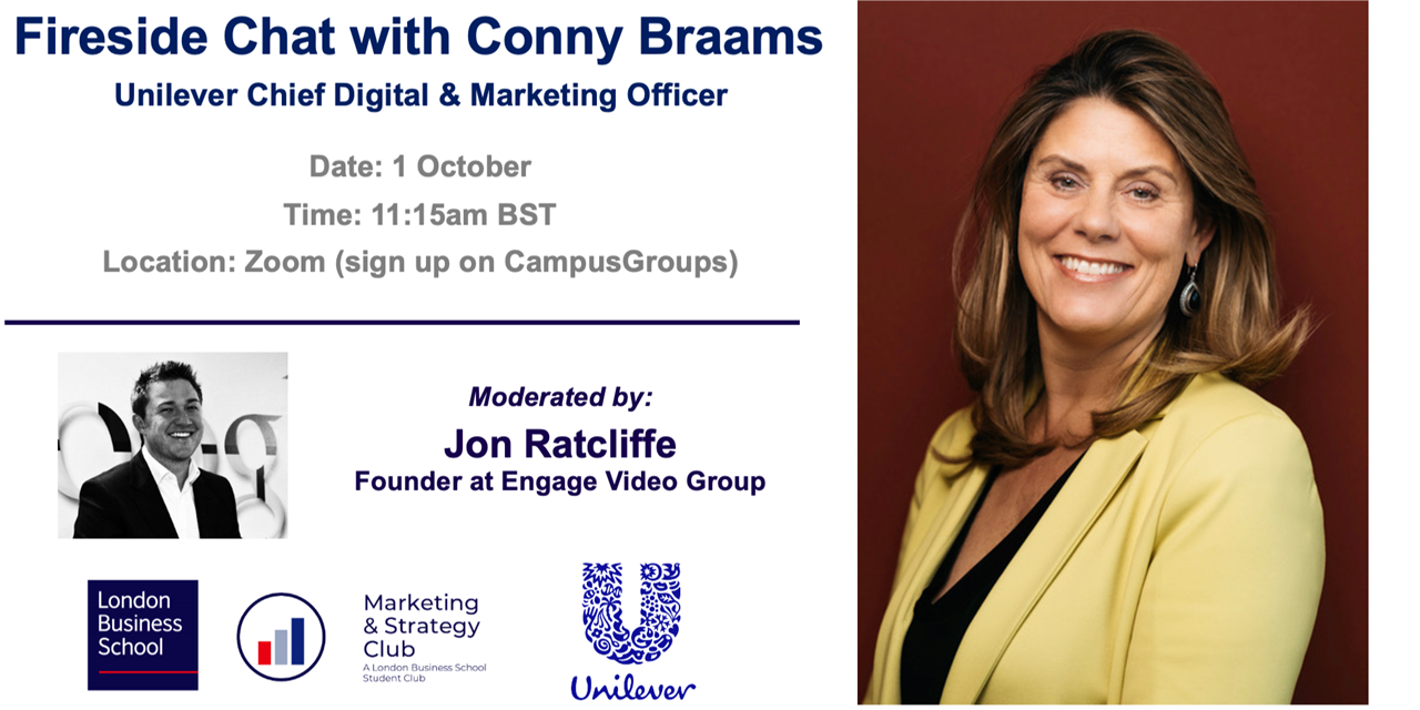 Fireside Chat with Conny Braams, Unilever Chief Digital & Marketing Officer Event Logo