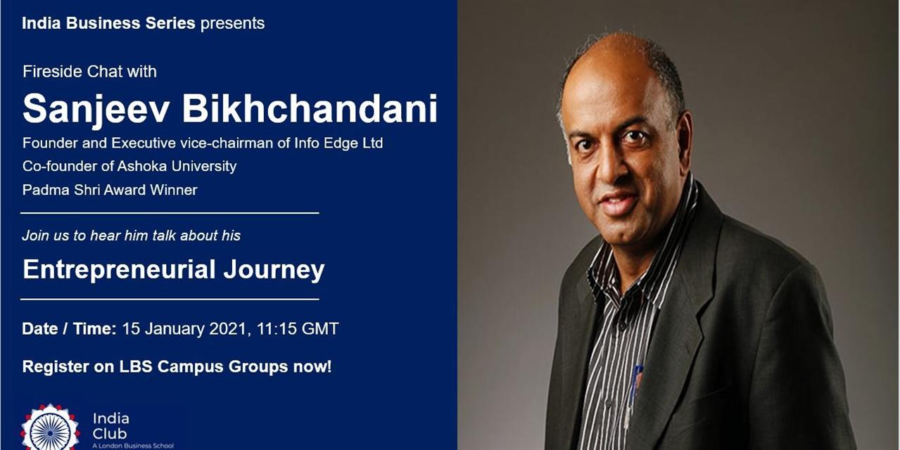 Fireside Chat with Sanjeev Bikhchandani Event Logo