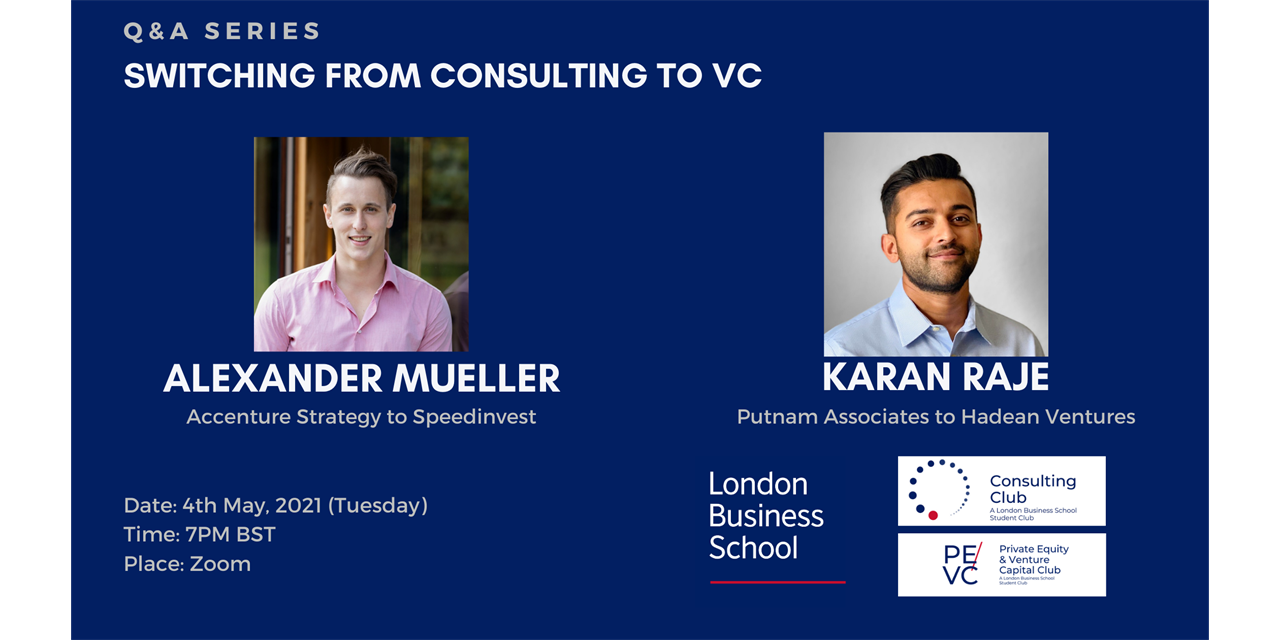 Q&A Series | Switching from Consulting to VC Event Logo