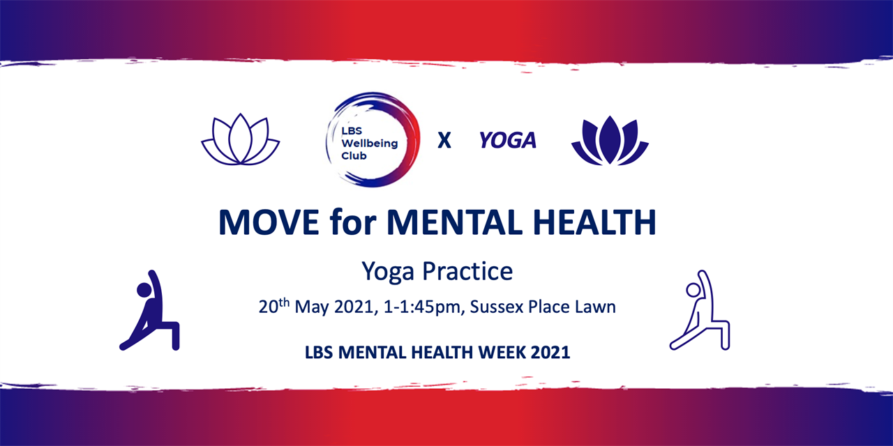 MHAW: Move for Mental Health x YOGA Event Logo