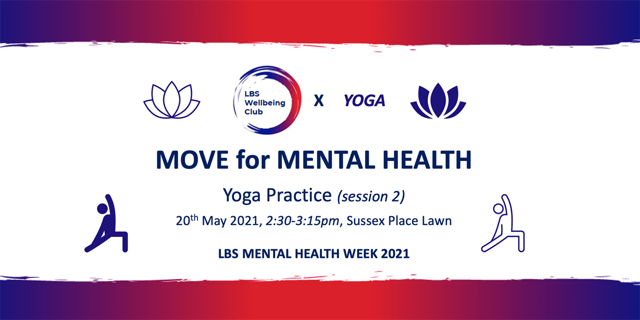 MHAW: Move for Mental Health x YOGA (session 2) Event Logo