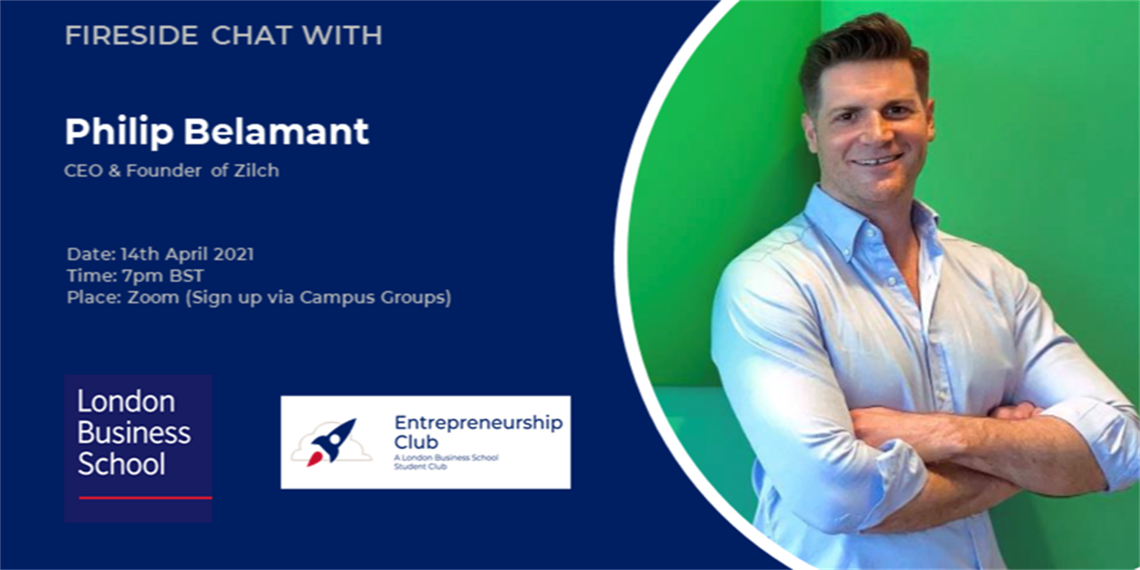 Fireside chat with Philip Belamant, Founder & CEO of Zilch Event Logo