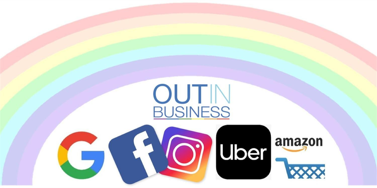 Out in Business: LGBTQ+ in Tech panel Event Logo