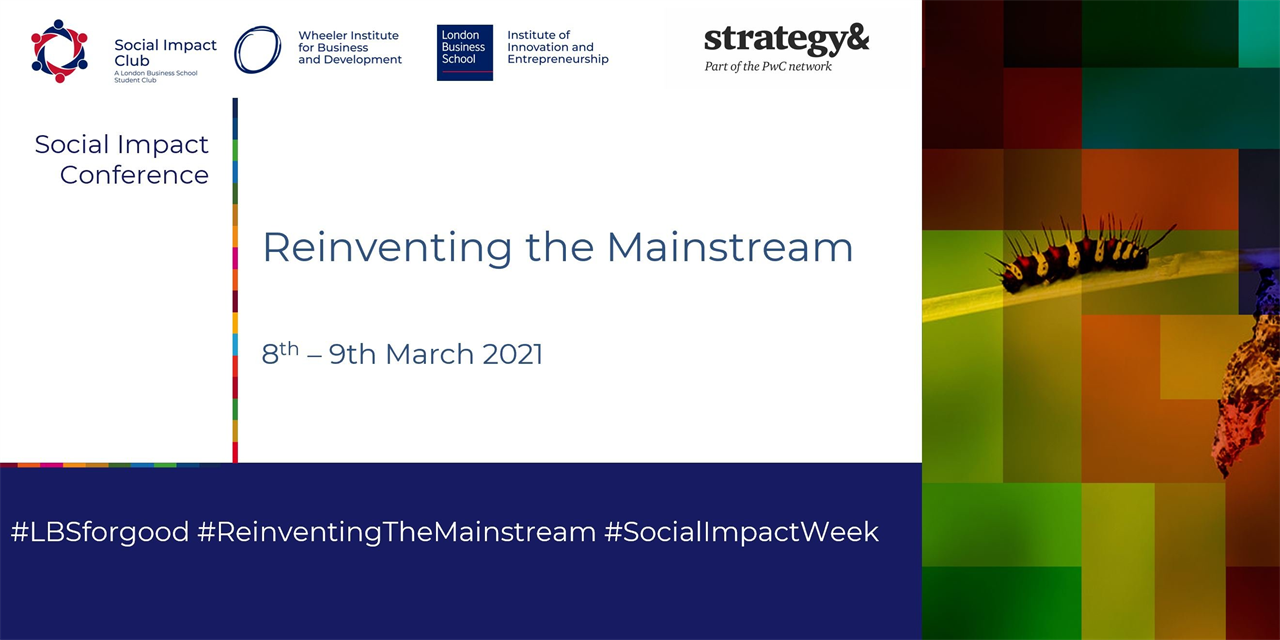 Reinventing the Mainstream - Social Impact Conference Event Logo