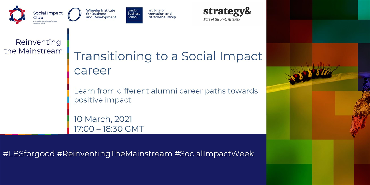 Transitioning to a Social Impact career Event Logo