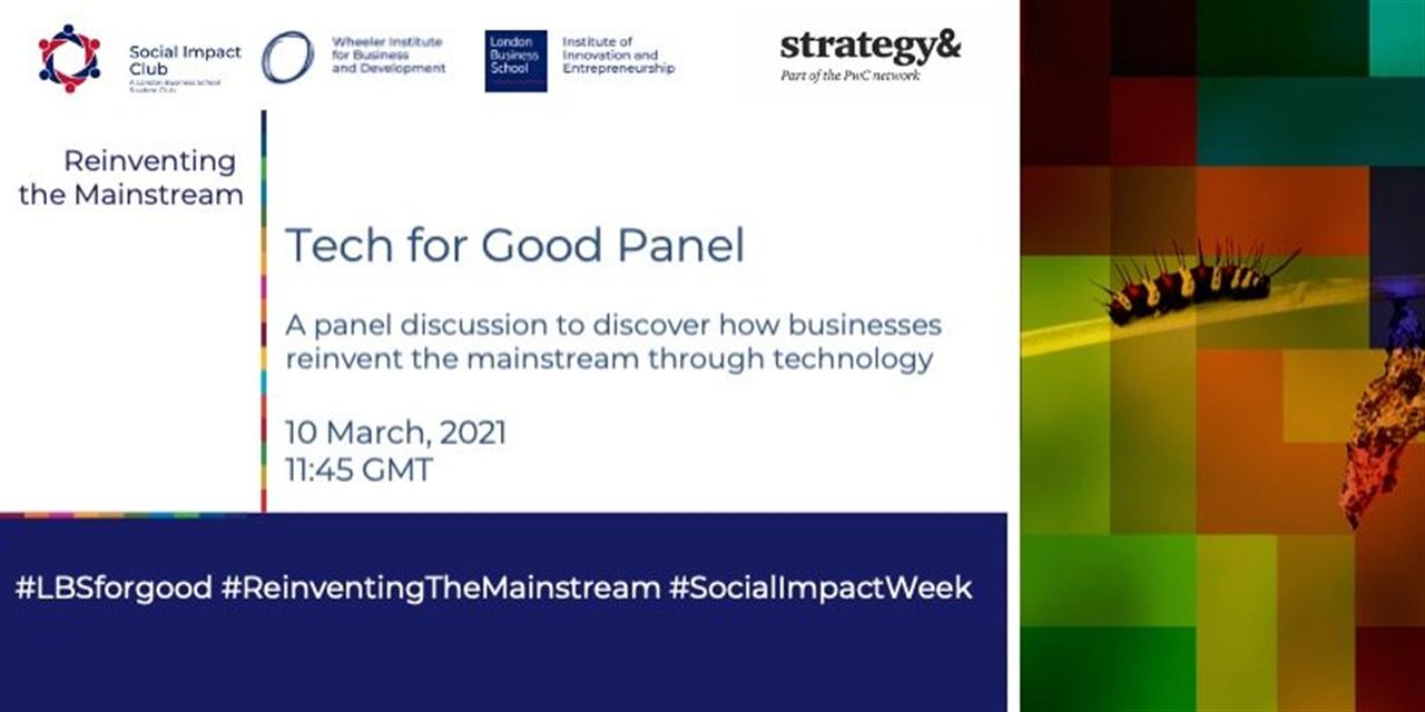 Tech for Good Panel Event Logo