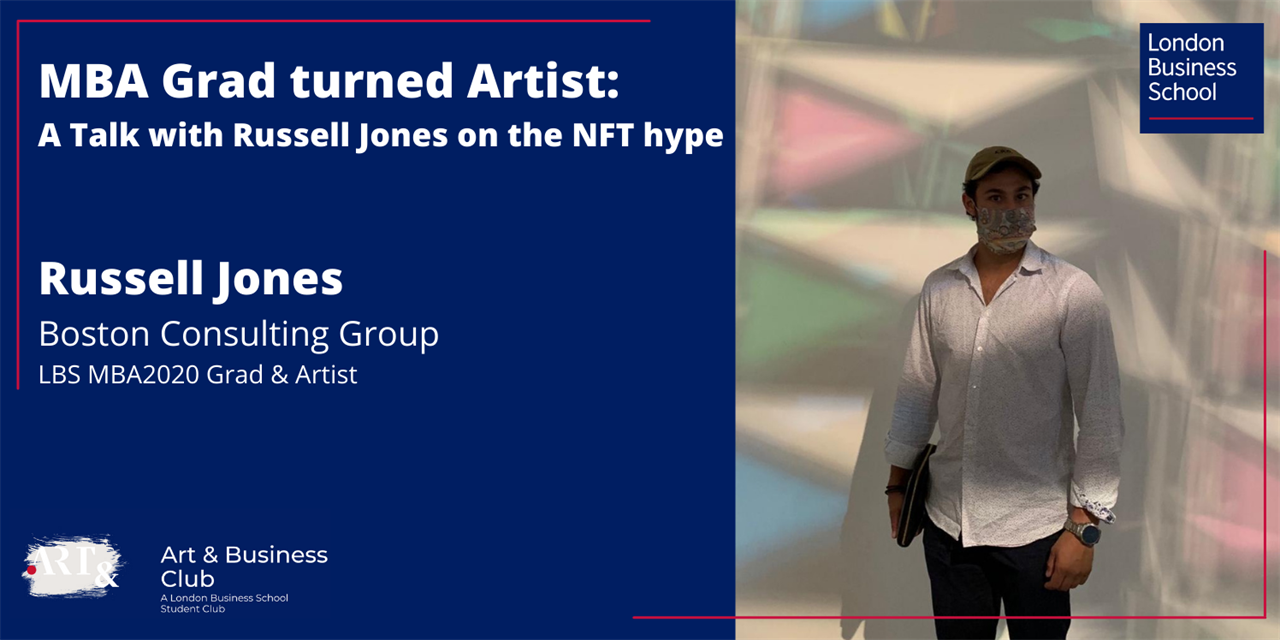 MBA Grad turned Artist: A Talk with Russell Jones on the NFT hype Event Logo