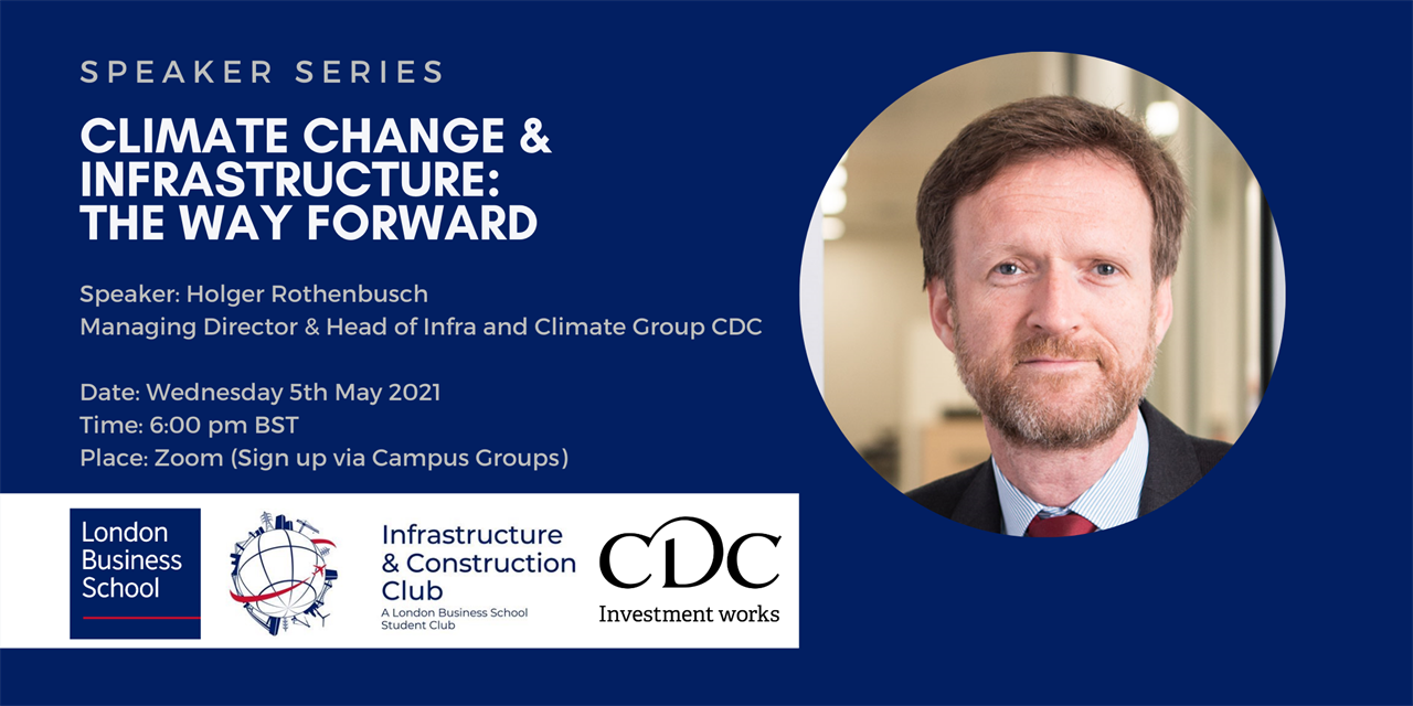CDC: Climate Change & Infrastructure: The Way Forward Event Logo