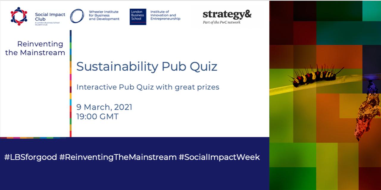 Sustainability Pub Quiz Event Logo