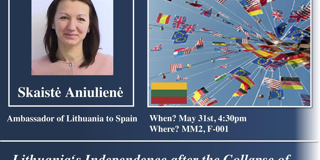 Lithuanian Ambassador to Spain: Geopolitics in Lithuania after the collapse of the Soviet Union Event Logo