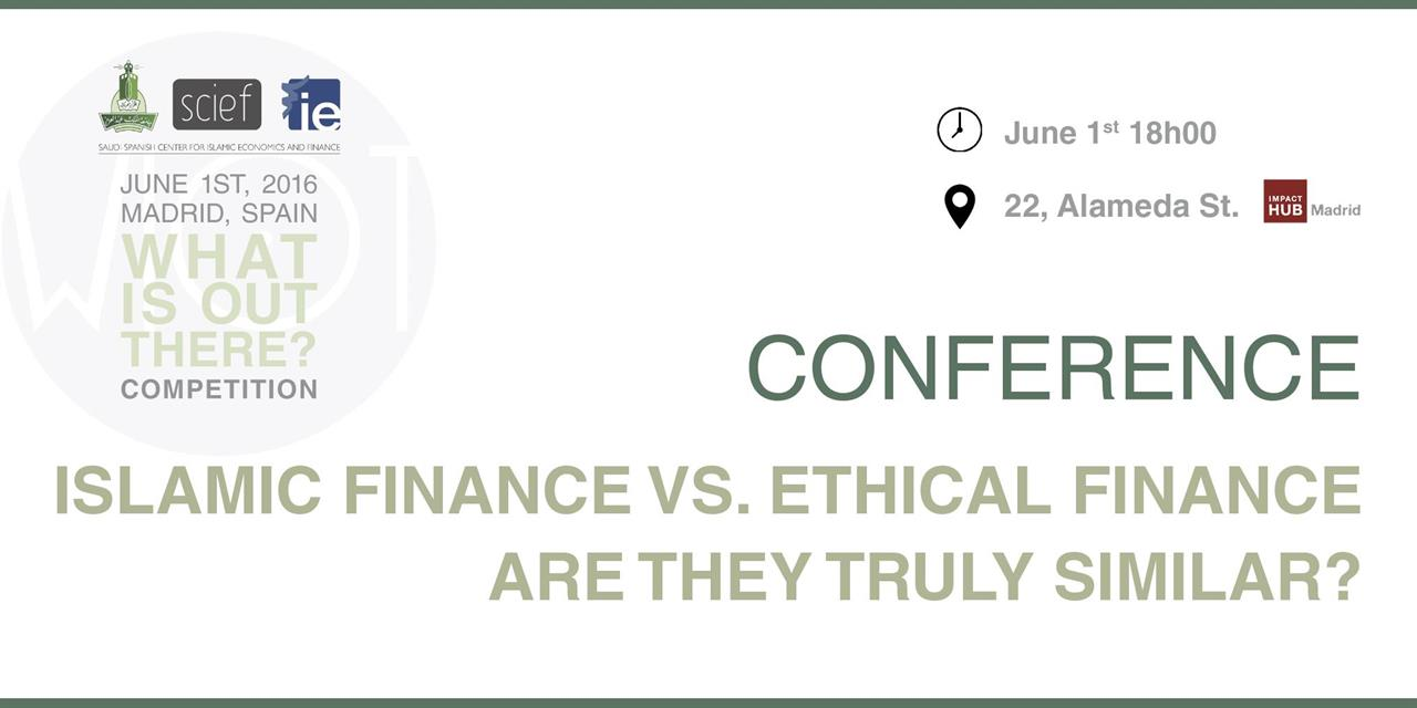 ISLAMIC FINANCE VS. ETHICAL FINANCE ARE THEY TRULY SIMILAR? Event Logo